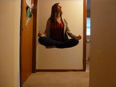 (Tolly0524) Tags: portrait girl yoga photoshop waiting buddha magic surreal floating levitation zen hanging float hover unnatural