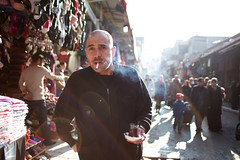 Around Grand Bazaar (Che-burashka) Tags: street people man turkey asia market cigarette candid istanbul smoking flare bazaar chai canonef28mmf18usm