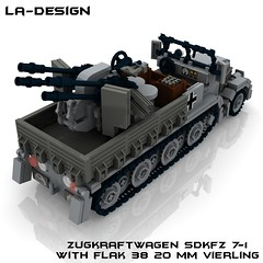 LEGO Custom WW2 SdKfz 7-1 Flak 38 4 (LA-Design2012) Tags: 1 tank lego wwii 7 ww2 vehicle instructions pdf custom xml armored flak 38 moc sdkfz bauanleitung ladesign flakvierling
