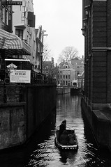 (Jennifer Stylls) Tags: city blackandwhite classic amsterdam river photography boat practica thenetherlands 400 ilford celluloid classicphotography ilford400 mtl5
