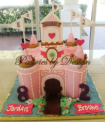 P1012552 (Pastries by Design) Tags: pink castle cake carved princess shaped