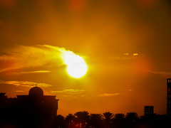 Sun Moving (Shamim omi) Tags: city sunset sky cloud creek canon dubai sharjah sx40 ishwardi ishurdi