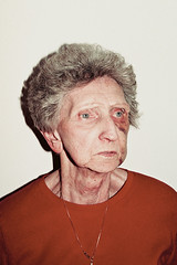 (brian james) Tags: christmas xmas eve family blue grandma red portrait woman white black eye film wall lady 35mm gold james grandmother brian kip brianjames cz gma bruised brianjamesphotography httpbrianjamesphotographynet httpbrianjamesphototumblrcom httpbriankipcom