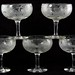 208. Set of (5) Signed Libbey Goblets