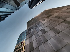 Looking Up in New Chancery Lane (The BigBlueCat) Tags: melbourne newchancerylane reflectyourworld dramaticartfilter olympusxz1