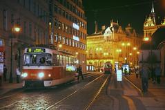 Prague Night (sfPhotocraft) Tags: city winter night europe prague tracks tram streetcar easterneurope czechrepbulic 2013