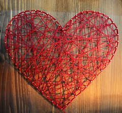 _Love_ (Gaia.Federico) Tags: wood red art love wire arte heart handmade amour piton rosso cuore amore filo legno stringart chiodo colorsinourworld stringheart