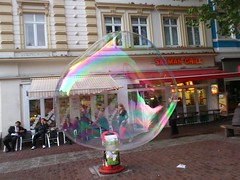Hamburg Altona - Riesenseifenblase