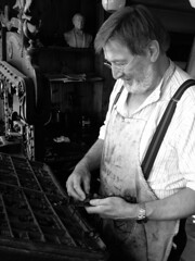 The Compositor (VicPrinter) Tags: museum print iron eagle hill case ironbridge printing type letterpress press typecase blists compositor