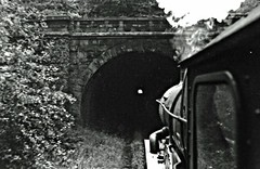 S13  Castles 5018 & 5042 on Severn Bridge Test in Tunnel (Russ Cribb) Tags: bridge bw test castle station train docks river tank accident great july rail railway loco tunnel swing junction gloucestershire class steam testing severn western historical 1956 winchester gauge stmawes strain ballast pannier sharpness 5018 lydney purton 5042 russcribb kencribb