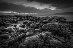 Acadia Beach 2 (Alan Drake) Tags: water bw blackandwhite beach britishcolumbia canada clouds d7000 digital exposure f nikon sky landscape longexposure ndfilter nd ocean rocks wideangle