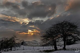 Ocaso y nieve