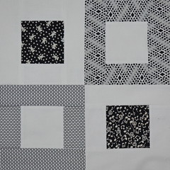 Block for Jean 2 (jenjohnston) Tags: white black quiltblock squareinsquare quiltingbee