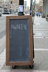 street sign oakland chalkboard day61 awaken 525600minutes