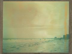 (abdukted1456) Tags: people film beach me polaroid haze sand maine 64 4x5 tungsten expired largeformat graflex oldorchardbeach 545 expiredfilm crowngraphic oob 64t 4x5camera instantfilm peelapart sheetfilm t64 type64 polaroid545 ektar127mm