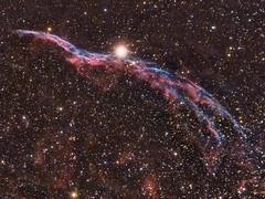 NGC 6960 Witch's Broom, West Veil, Lace-work Nebula, Filamentary Nebula (ajynrynn) Tags: astrometrydotnet:version=14400 astrometrydotnet:id=alpha20130389335089 astrometrydotnet:status=solved veil veilnebula witchsbroom cygnus canon astronomy night telescope dslr star nebula dark longexposure witch broom constellation astrophoto deepsky sky ciel