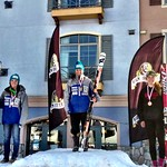 Sun Peaks Van Houtte GS U18 Podium - Charley Field (Whistler Mountain Ski Club) 1st; Stephanie Gartner (Fernie Alpine Ski Team) 2nd; Mia Henry (Banff Alpine Racers) 3rd