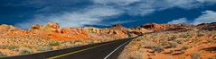 Valley of Fire Panarama, Overton NV (memories_by_mike) Tags: statepark panorama mountain valleyoffire landscape desert nevada nikond600 ononesoftware pano8shots