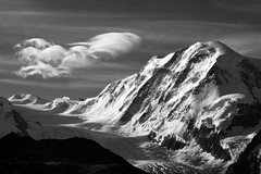 Liskamm (pierre hanquin) Tags: light summer sky bw cloud sun mountain snow mountains alps nature berg clouds montagne alpes sunrise landscape geotagged schweiz switzerland soleil nikon europa europe suisse noiretblanc swiss clear ciel gornerg