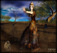 "Dew Fashion Butterfly wave ffl (Helensue Helendale ""DEW"") Tags: fashion sl secondlife dew relayforlife ffl americancancersociety fashionforlife"