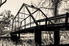 Paino Crossing (Mabry Campbell) Tags: old bridge trees blackandwhite bw usa photography march countryside us photo texas photographer unitedstates image tx unitedstatesofamerica country historic photograph 100 24mm february f71 fayettecounty tiltshift 2013 pianobridge tse24mmf35l sec eos5dmarkiii mabrycampbell march32013 201303030h6a0813