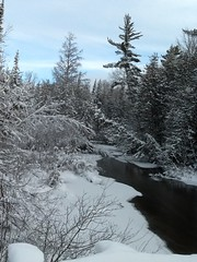 Winter on the AuSable River (Grayling Visitors Bureau) Tags: winter ausable grayling