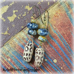Polymer Clay Bullets and Pietersite stone (Kristi Bowman Design) Tags: stone tribal polymerclay bullet etsy pietersite niobium kristibowmandesign