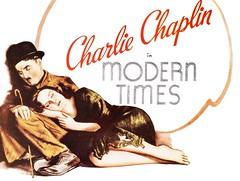 Affiche Les Temps Modernes, 1936 (Charlie Chaplin: du muet au parlant) Tags: en film 1936 charlot moderntimes cinma charliechaplin vagabond paulettegoddard affichedefilm filmmuet dvdclassik