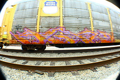 Agod (MR. NIC GUY ^.^) Tags: california road streetart art yard train bench graffiti losangeles rail freight rk graffitiart agod kog