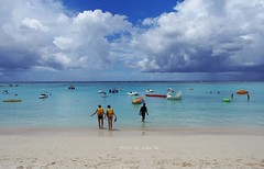 the beach of Guam Reef Resort, Tumon Bay, USA
