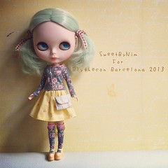 Special gift for Blythecon Barcelona 2013 #blytheconbarcelona2013 #blythe #blythedoll (Sweet-by-Nim) Tags: square sierra squareformat iphoneography instagramapp uploaded:by=instagram