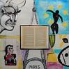 Gertrude Stein in Paris (Powskichic of Bend) Tags: friends abstract paris france art jaune 1932 painting mixed media artist acrylic pages contemporary eiffeltower pablo lovers amarillo picasso painter historical matisse henri bookart minotaur autobiography gertrudestein doramaar thefalloficarus createbeauty sorrowoftheking powskichicofbend brendareidirwin autobiographyofalicebtoklas