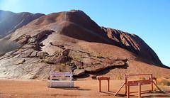 climb closed sign  Ayers Rock Uluru Kata Tjuta National Park NT central Australia monolith geology_6757 (gervo1865_2 - LJ Gervasoni) Tags: park red rock march desert nt centre central australia national uluru kata tjuta geology northern ayers monolith territory 2013 photographerljgervasoni