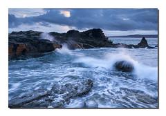 Godrevy waves (Simon Bone Photography) Tags: sea seascape beach coast sand cornwall shoreline cliffs coastal coastline splash godrevy splish beachscape splosh canonef1740mmlf4 canoneos5dmkii wwwsimonbonephotographycouk