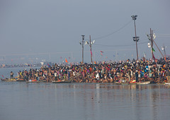 Pilgrims Bathing In Ganges, Maha Kumbh Mela, Allahabad, India (Eric Lafforgue) Tags: travel people india tourism water festival river outdoors photography togetherness bath asia day religion crowd bank celebration event spirituality copyspace bathing hinduism pure pilgrimage religiouscelebration pilgrim traditionalculture sangam humaninterest allahabad socialgathering haridwar purification gangesriver yamunariver uttarpradesh realpeople kumbhmela traveldestinations colorimage indianculture 4795 uttarakhand largegroupofpeople indiansubcontinent royalbath celebrationevent traditionalceremony shahisnan indianethnicity