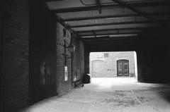 011 Salt's Mill stables (I ♥ Minox) Tags: blackandwhite film monochrome grafitti leeds olympus ls6 fomapan100 fomapan 2013 om4t olympusom4t leeds6 130309om4tfomapan