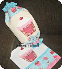 Puxa saco e pano de copa (fatimalt) Tags: handmade patchwork tecido pratos saquinhos sacolinhas patchaplique artesantofatimalt