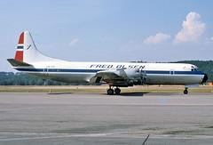 7758 (dannytanner804) Tags: switzerland airport aircraft zurich international f date lockheed reg electra owner fredolsen cn2005 l188c airportcodelszh lnfcn 1871976