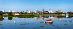 Harrisburg, PA (Western Maryland Photography) Tags: harrisburg pennsylvania canoneos6d ef70300mmf456isusm panorama water river boat reflection skyline summer