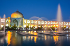 Isfahan (Paolo Cinque / www.paolocinque.it) Tags: beautiful nice cool fantastic masterpiece perfect composition terrific awesome stunning longexposure dusk bluehour blue night nightlights water fountain fountains reflection reflections mosque masjid islam allah religion square imamsquare mullah imam nikon d7100 reflex nikkor dslr dx camera photo photography photographer flickr image capture shot iranian persian isfahan esfahan iran persia middleeast asia asian muslim travel traveller traveler traveling travelling visit visiting sight sightseeing world worldwide adventure trip journey vacation tour tourist tourism