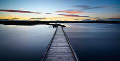 Where it leads (ajecaldwell11) Tags: ahuririestuary sunset ankh water walkway light longexposure pandorapond tide newzealand napier boardwalk sky hawkesbay rocks caldwell dusk clouds