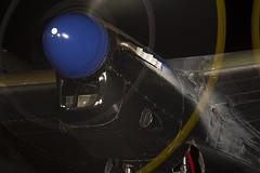 Merlin Engine Flames (Stephen Gardiner) Tags: hamilton ontario 2016 canadianwarplaneheritagemuseum lancster flyingfortress mitchell worldwar2 b17 b25 avro boeing northamericanaviation night plane aircraft propeller noseart pentax k3ii 1645