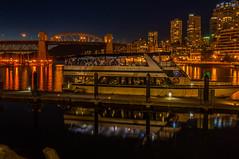 Royal Vancouver 1 (rdpe50) Tags: night ocean city boat bridge buildings falsecreek reflections granvilleisland vancouverbc
