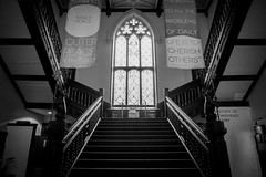 Conishead Priory (Charlie Little) Tags: conishead priory buddhism manjushri bw staircase sony a6000 cumbria ulverston