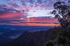 After the sunset (Masa_N) Tags: australia mountain winter evening landscape sunset lamingtonnationalpark dusk