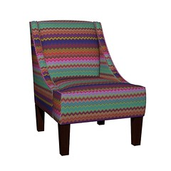 CRAZY MOON CHEVRONS FUSHIA STRONG ARMCHAIR (paysmage) Tags: crazy chevrons colorful paysmage spoonflower roostery fabric fashion collection coordinates armchair fauteuil upholstery design designers designer harmony homedeco home tissu textile zigzag chairs cozy