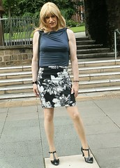 Afternoon Jaunt (Amber :-)) Tags: short straight skirt tgirl transvestite crossdressing