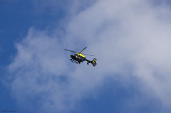 Police Helicopter (bigbluewolf) Tags: nikon d7000 police helicopter chopper sigma 18250 18250mm blue sky clouds cloud september