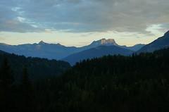 Panorama sur la Pointe de Plat et des rochers des Fiz (romainescobar) Tags: alpes mont blanc pointe plat fiz