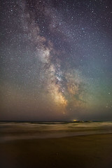 Time & Tides ..... (macdad1948) Tags: stars astro nightscapes starscapes night milkyway devon coast sands beach bigburyonsea